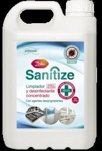 ZORKA SANITIZE, Limpiador desinfectante concentrado con agentes desengrasantes
