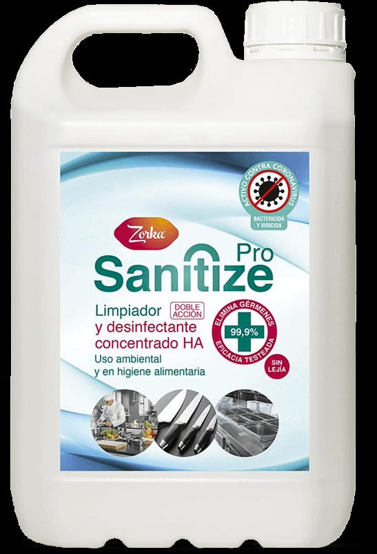 ZORKA SANITIZE PRO , Limpiador desinfectante concentrado HA